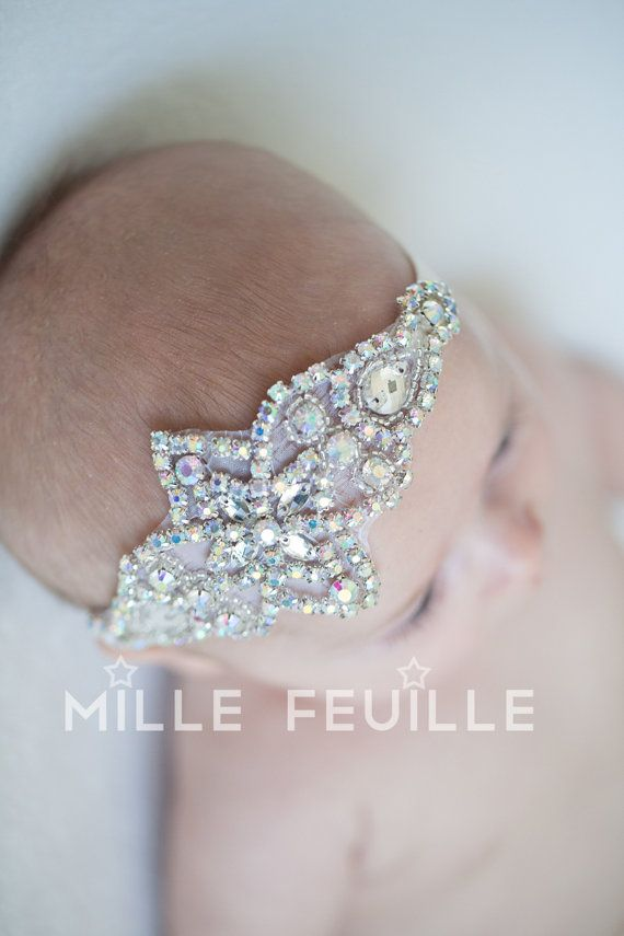 baby crown newborn crown headband and by MilleFeuilleBoutique