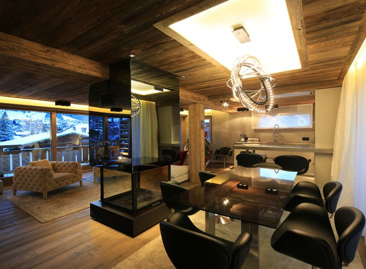 In #Megève, this 250 sqm chalet will seduce you with its benefits and its relaxation area and home cinema which decorate everything.