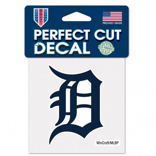 MLB Detroit Tigers Old English D 4x4 Die Cut Decal-Navy