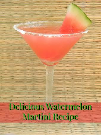 Delicious Watermelon Martini Recipe #recipe