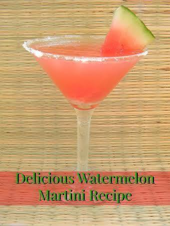Delicious Watermelon Martini Recipe #recipe