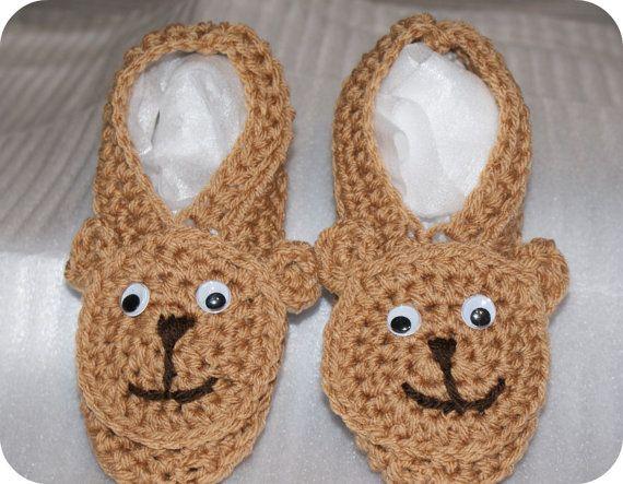 Teddi Bear Slippers by CheekeemonkeeStore on Etsy