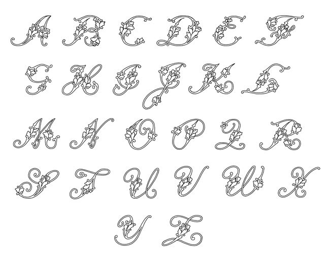 fancy cursive letters | Tattoo ideas | Pinterest