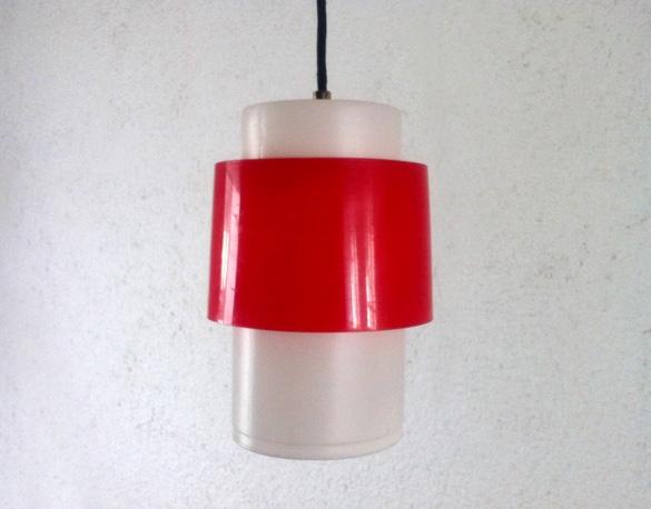 red plastic lamp