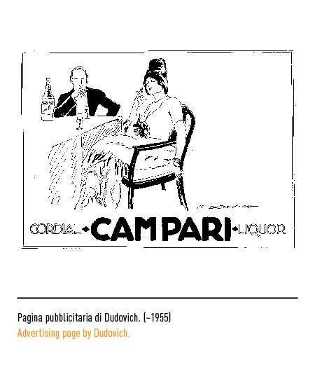 Marchio Campari - Pagina pubblicitaria di Dudovich 1955
