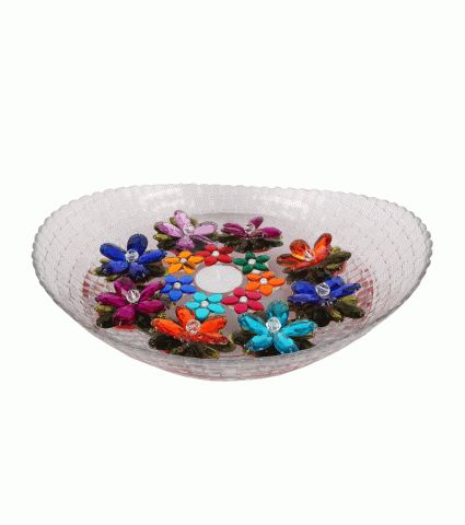 Shop for Small Round Multi Floating Flowers 8 Big n 7 Small - Rangoli Designs from Suman Creations