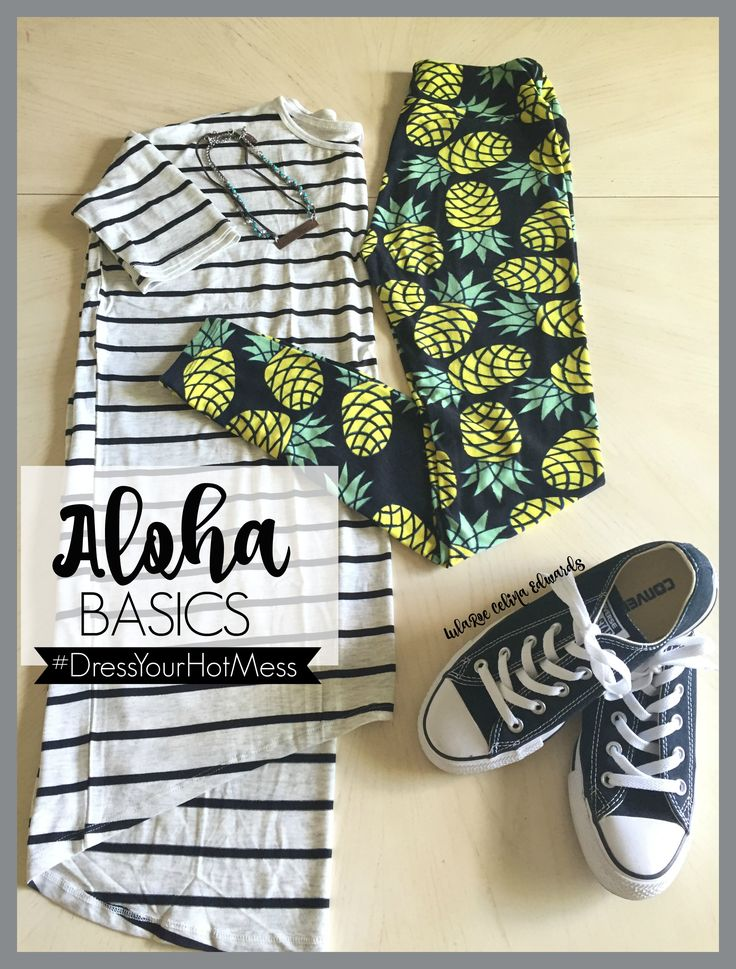 LulaRoe outfits Pineapple leggings, converse and an Irma make the perfect traveling outfit! Click the pin to shop with me on Facebook! LuLaRoe Celina Edwards