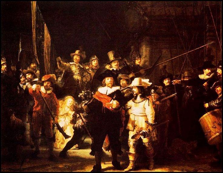 La ronda de noche - Pintura de Rembrandt Harmenszoon van Rijn- 1642