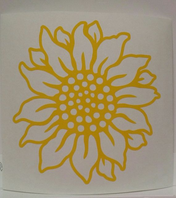 Sunflower Decal/Sunflower Sticker/Car By Keoweecreations