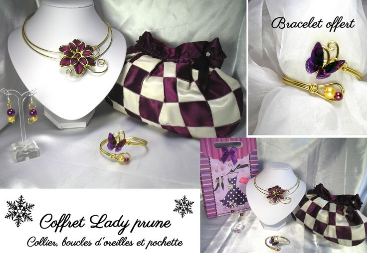 Coffret lady prune noël perles cristal