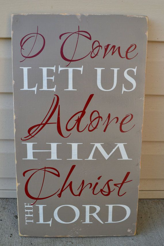 Hey, I found this really awesome Etsy listing at http://www.etsy.com/listing/161658923/christmas-decor-holiday-signs-come-let