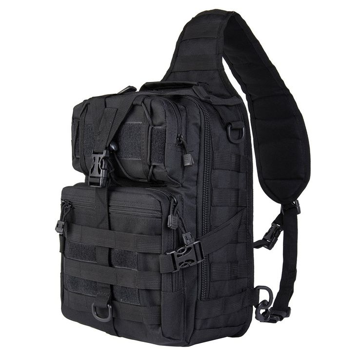 Hikingworld 20L Small Tactical MOLLE Sling Pack - Compact and Versatile - Shoulder Pack, Backpack, Chest Pack, or Hand Carry - Military Assault Style Rucksack. ** New and awesome product awaits you, Read it now  : Backpack