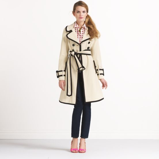 In Love with this trench... Common sense says no, but clearance sense might not be able to resist.