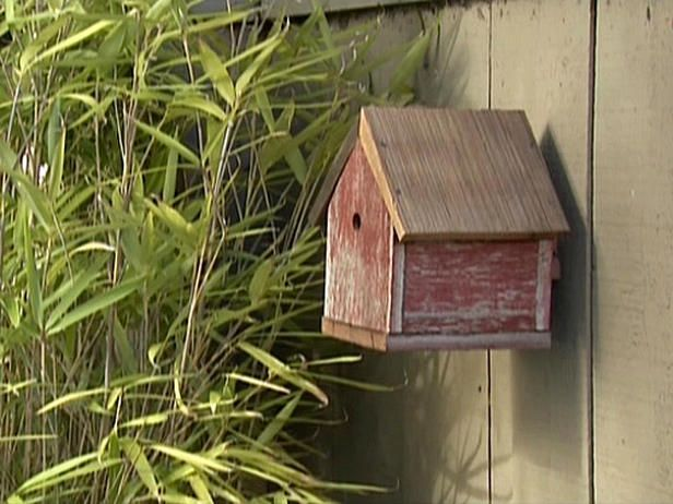 DIY outdoor speaker system camouflaged as a bird house.