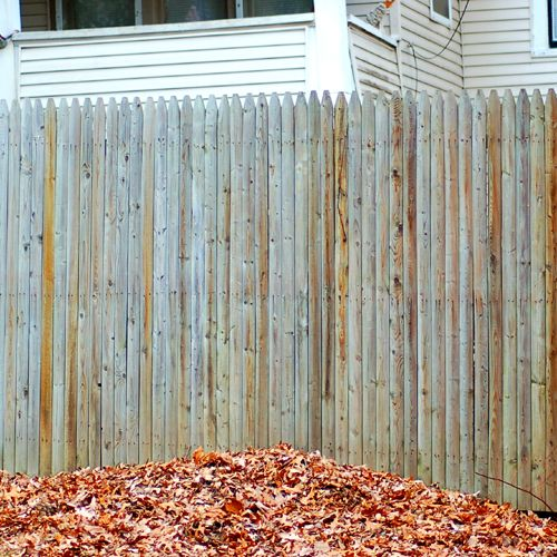 Fence Pictures: Stockade Fences