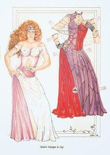 Paper Dolls: Queen Morgan le Fay  Camelot