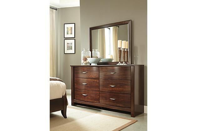 Corraya Dresser And Mirror Brown Furniture Bedroom Home Decor Dresser With Mirror
