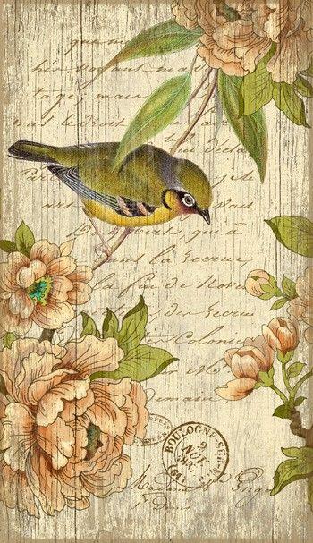 Vintage Bird Left Sign