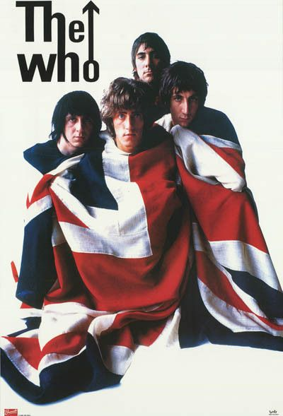 A classic poster of The Who - the iconic image of the band wrapped in the Union Jack British Flag! Fully licensed. Ships fast. 22x34 inches. Check out the rest of our awesome selection of The Who post