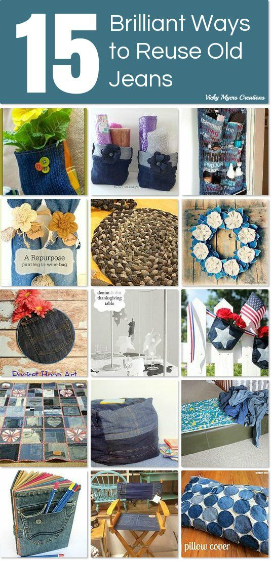 15 brilliant ways to reuse old jeans.