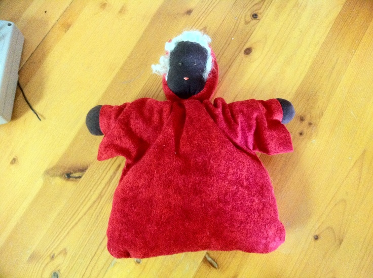 My first Waldorf Doll. Baggy doll with Sheep Hair!