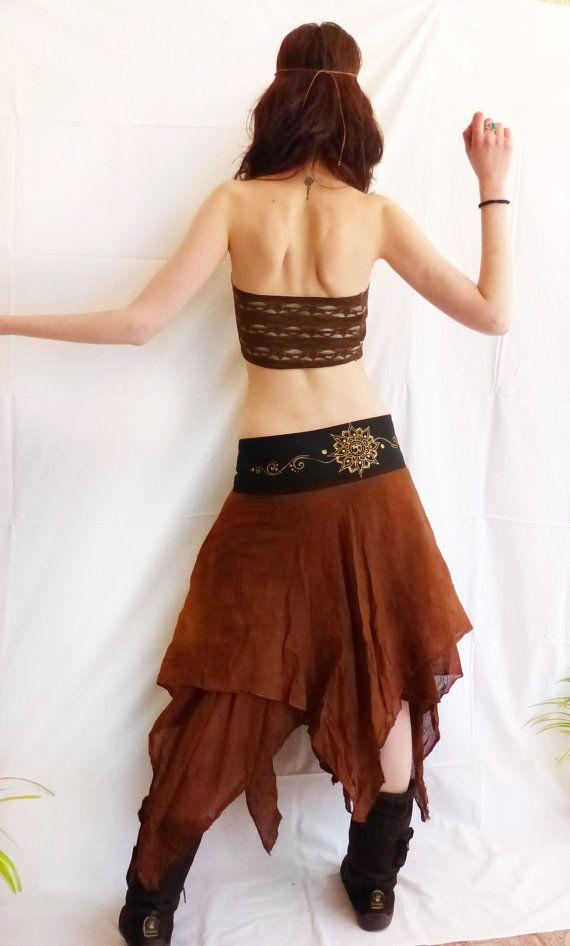 Maxi long wrap skirt. Mandala pixie long by AbstractikaCrafts, £41.00