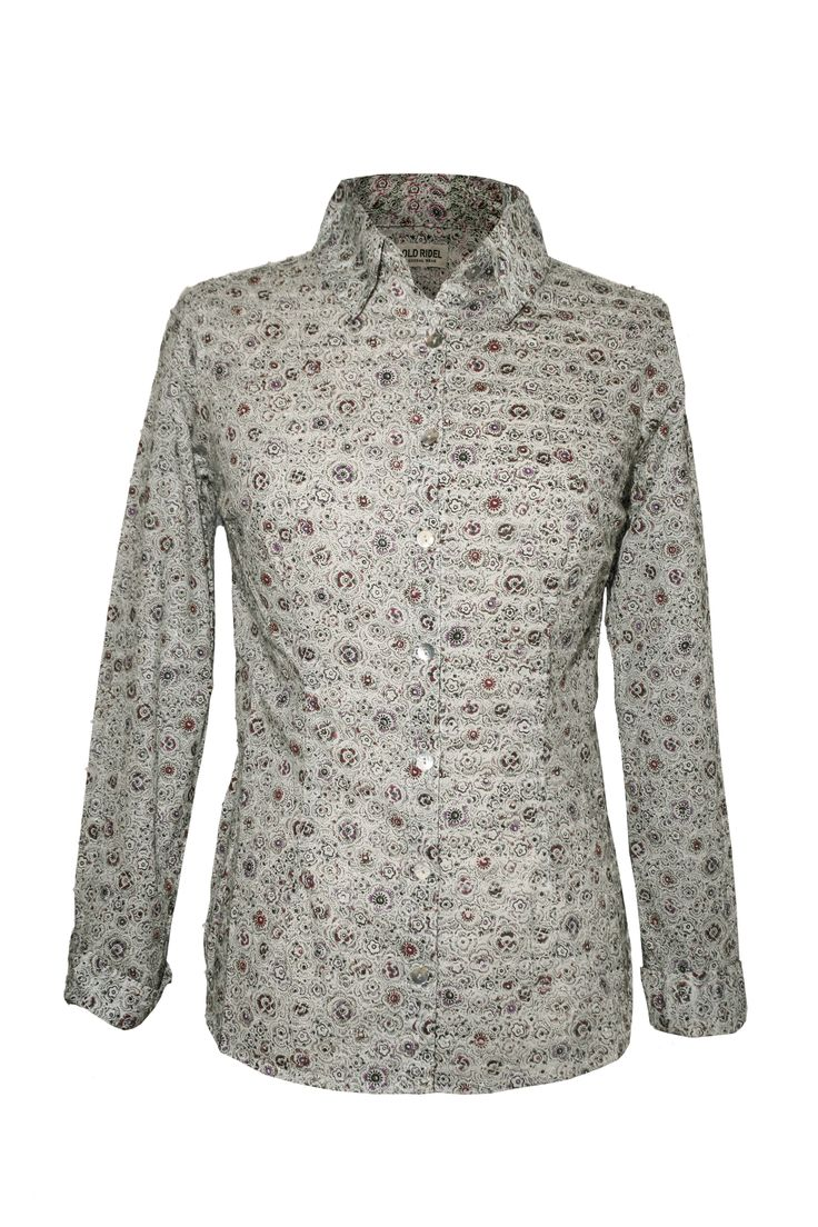Camisa mujer, estampado floral. www,oldridel.com