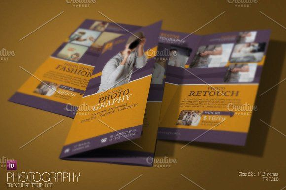 Photography Brochure by InnovativeDesign on @creativemarket brochure design templates 3 fold brochure template tri fold brochure design leaflet template tri fold brochure template word online brochure maker print brochures 3 fold brochure brochure template