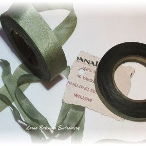 15mm silk ribbon - great for leaves! - Lorna Bateman Embroidery