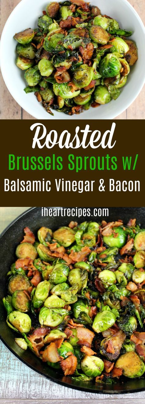 Roasted brussels sprouts with balsamic vinegar , bacon, and garlic. Seriously the best brussels sprouts recipe ever! Who is in need an amazing vegetable side dish? Well I have many to choose from including my southern soul fool collard greens, corn pudding, and even my green bean, bacon, and potatoes. Now, I'm back with another winner. We're going to make roasted brussels sprouts with balsamic vinegar, bacon, and lots of delicious fresh garlic! This amazing side dish is super simple t...