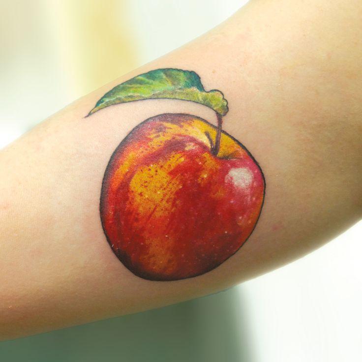 tattoo by Aubrey Mennella aubme.com ig: @aubreymennella apple tattoo