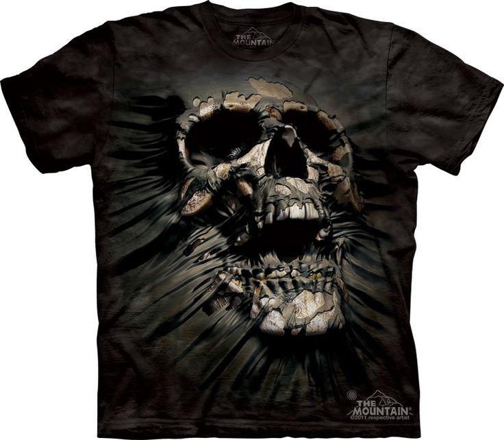 Breakthrough Skull face tee - Alien T-Shirts - tees - green t-shirts - funnny tshirts - fantasy t-shirts - scary t-shirts - zombie t-shirts - death t-shirts - gift ideas for christmas - ideas for christmas - unicorn t-shirts - robot t-shirts - epic t-shirts