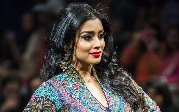 Download wallpapers Shriya Saran, 4k, indian actress, beauty, Bollywood, brunette