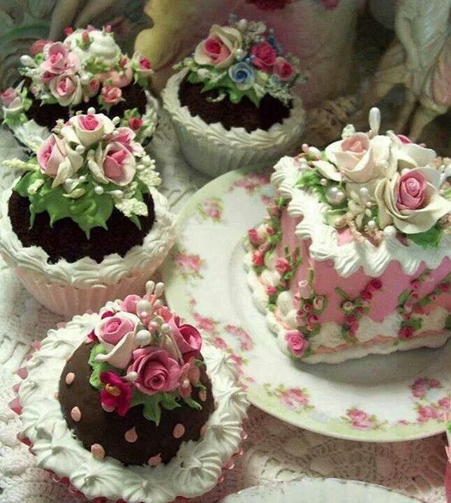 Fancy cakes for tea time