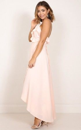Something Like Love maxi dress in blush