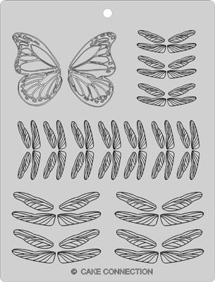 Make chocolate dragonflies and butterflies; good template ideas. Edible butterflies - Cake Decorating Community - Cakes We Bake
