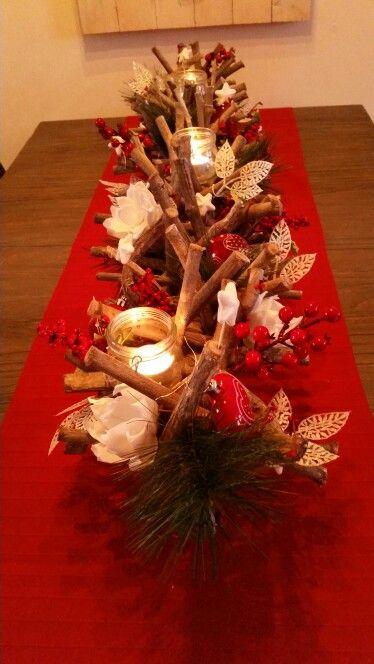 Takkenbos in kerstsfeer