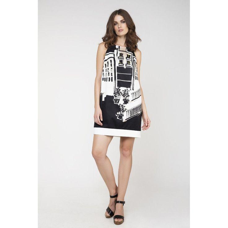 Print Sack Dress