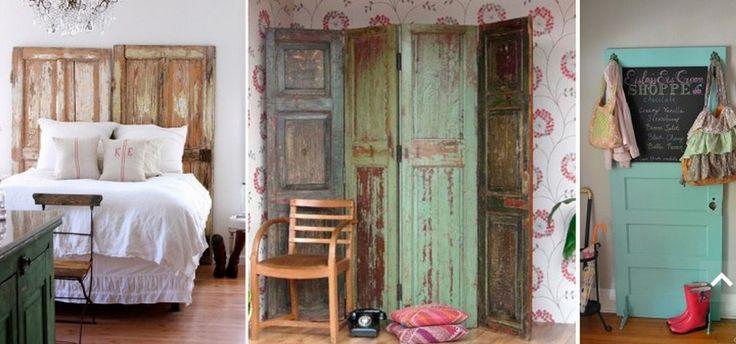 Ambientes acogedores biombos hechos con puertas - Puertas de biombo ...