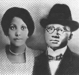 THESE ARE THE PARENTS OF MALCOLM X. THEY WERE FOLLOWERS OF THE HONORABLE MARCUS MOSIAH GARVEY. A LOT OF TIMES WE FORGET THAT MALCOLM'S PARENTS WERE GARVEYITES.