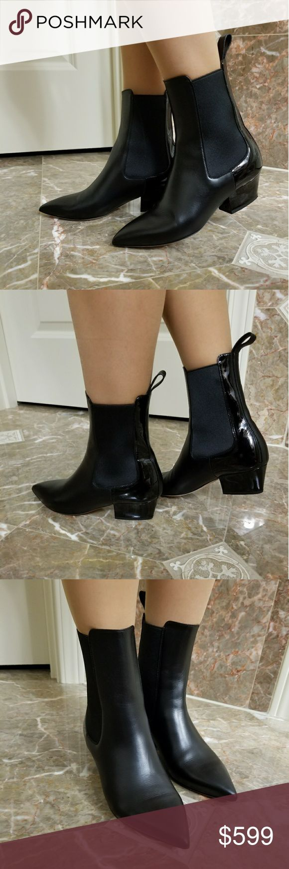 Valentino Black Boots👞 Condition Very Good! the Leather is perfect only sign of wear is on the sole of shoe. Very comfortable.👍 Valentino Shoes Ankle Boots & Booties