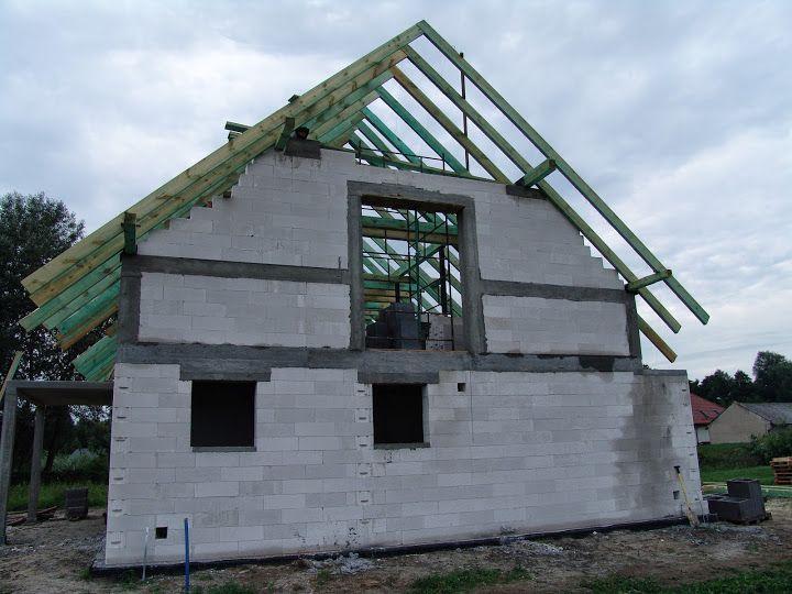 Widok elewacji bocznej  #elewacja #dom # budowa
