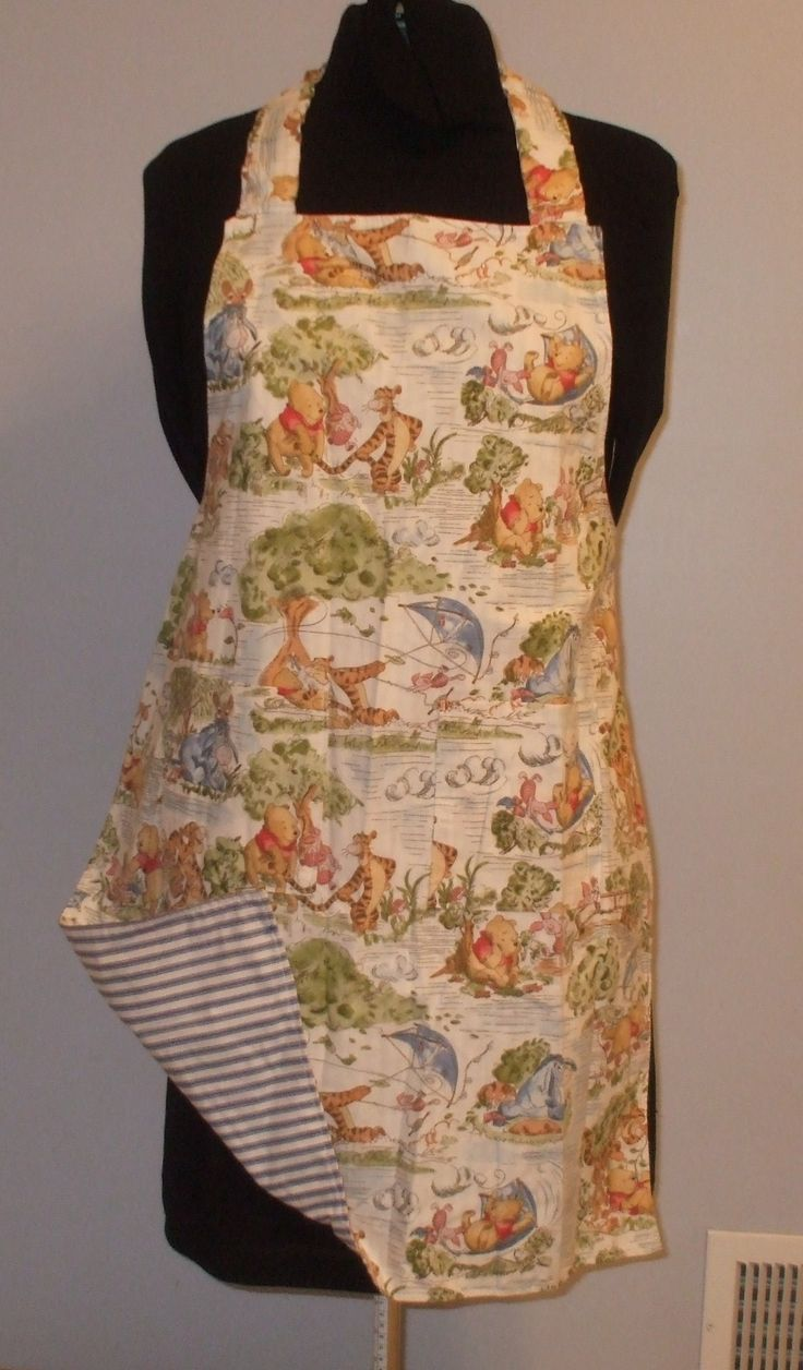 Winnie the Pooh, variety of aprons with pattern reverse