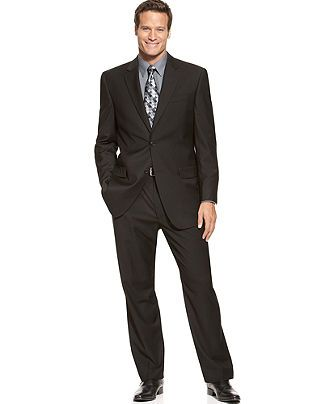 Izod Suits, Two Button Black Solid - Big & Tall Suits & Suit Separates - Men - Macy's