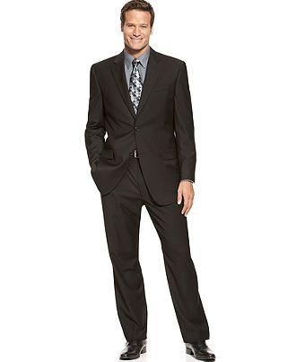 Izod Suits, Two Button Black Solid - Big & Tall Suits & Suit Separates - Men - Macy's
