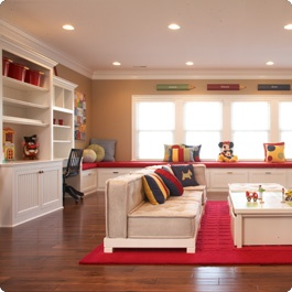 Organized Playroom Games Room