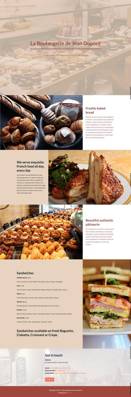 Bakery website - Amazing websites created by an A.I. web designer  #Entrepreneur #SMB #StartUp #Boulangerie ArtificialIntelligence #Webdesign #Website #MachineLearning #Tech #layout https://blog.firedrop.ai/6-unique-amazing-websites-created-with-firedrop-the-ai-web-designer-f9ec38bd43f6
