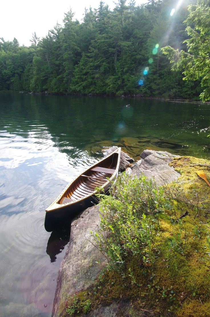 The Blue Canoe - by David Chambers. Clear Lake Conservation Reserve, Haliburton, Ontario.