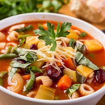 This soup is very tasty, the chunky vegetables fills you up and the soup juice is packed with all those lovely Mediterranean flavours.