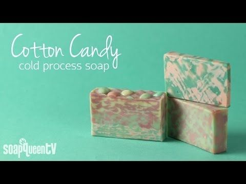 Cotton Candy Cold Process Soap--plus recipe